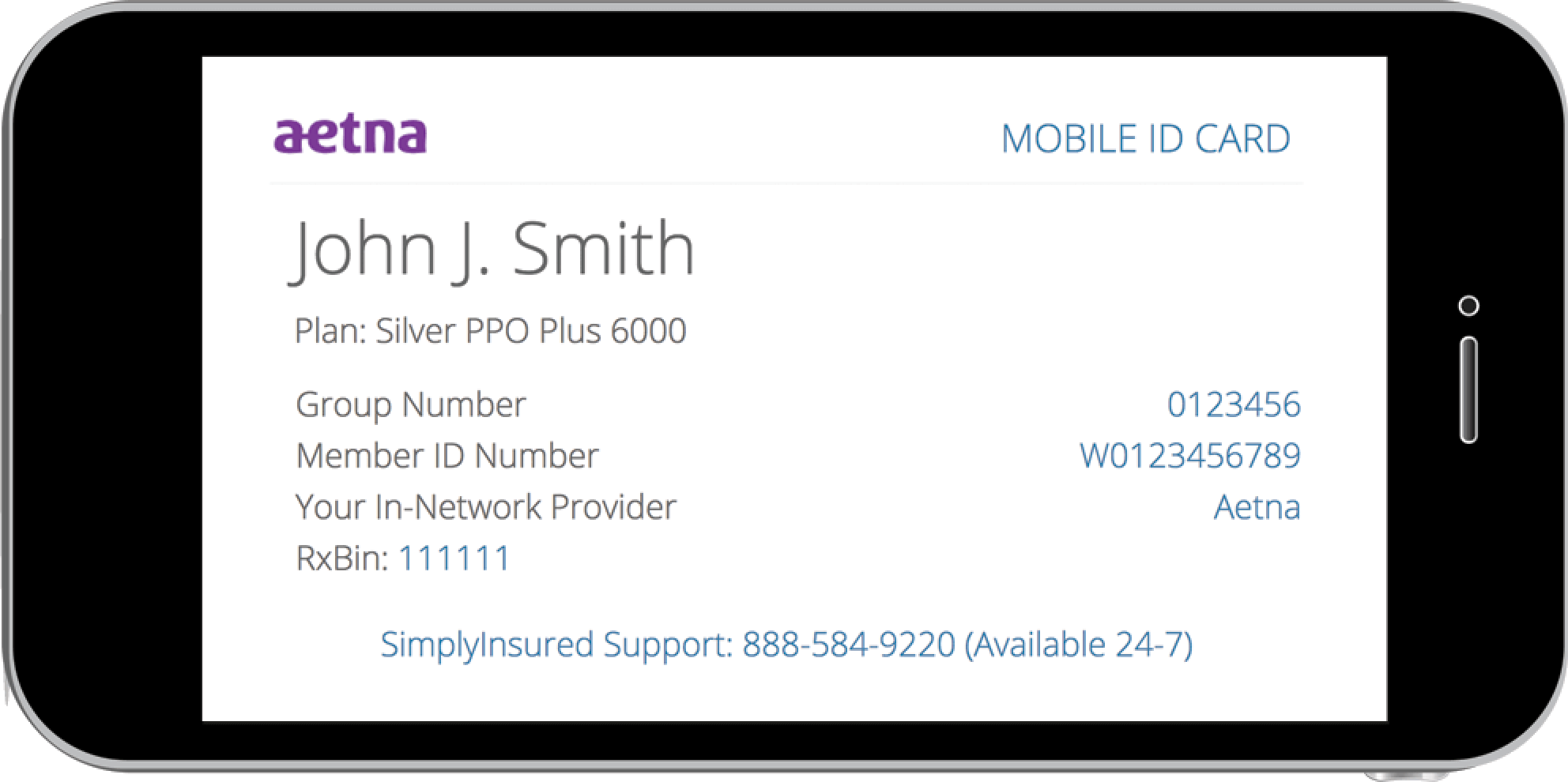 SimplyInsured mobile ID cards